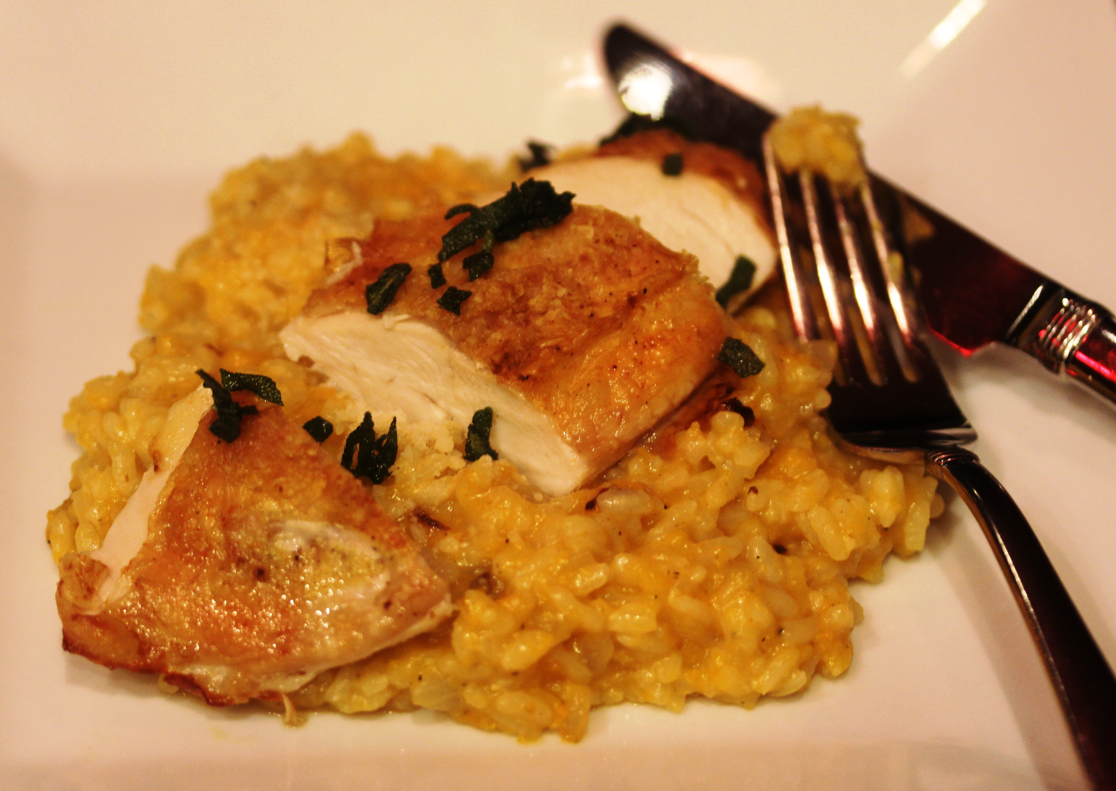... roasted butternut squash so of course i love butternut squash risotto