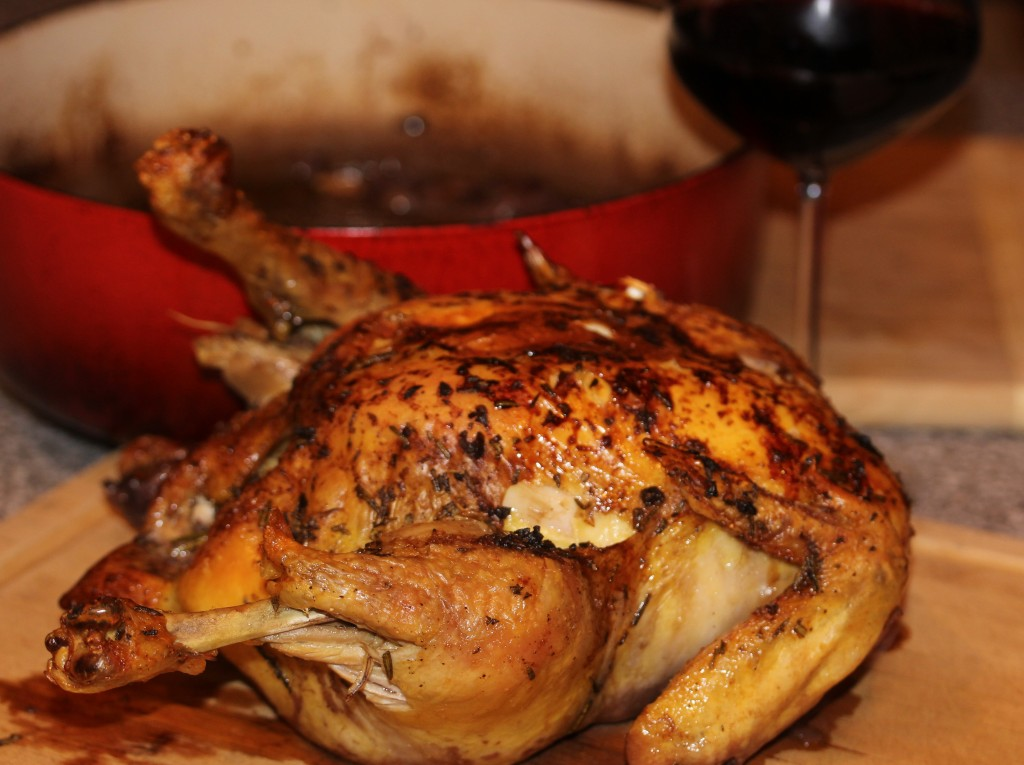 balsamic roasted chicken whole