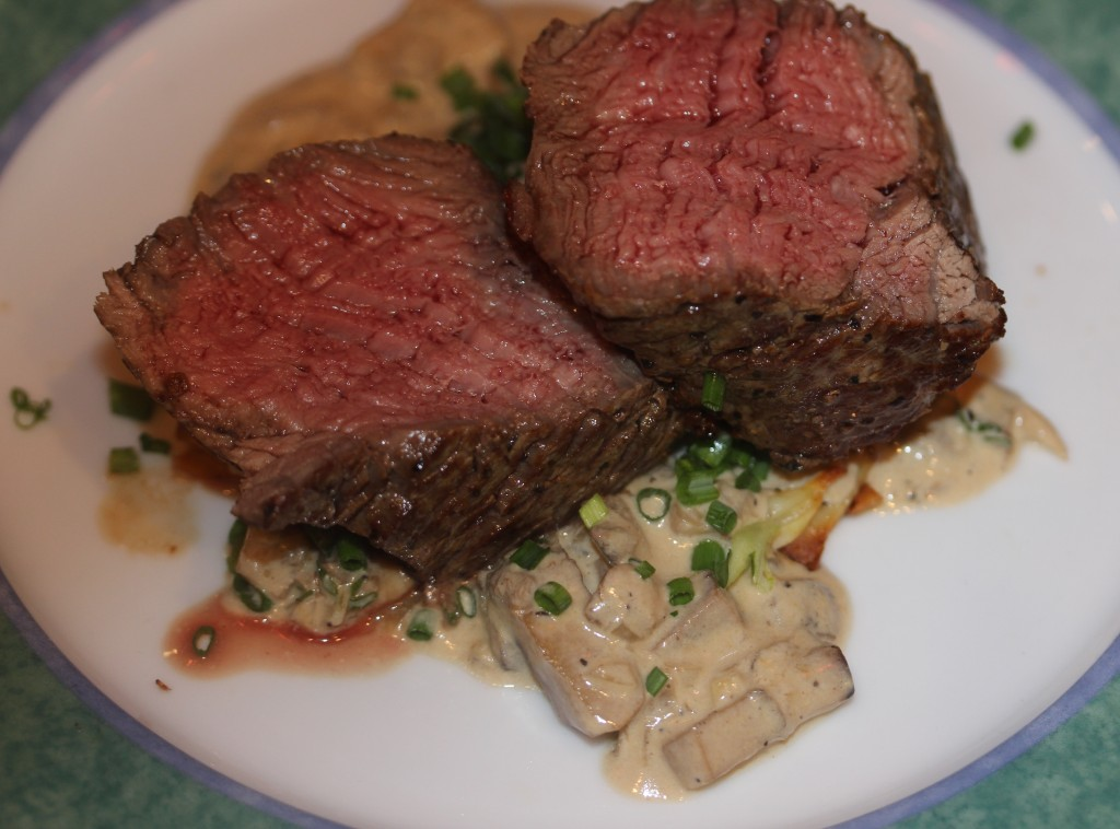 filet mignon with brandy mushroom sauce