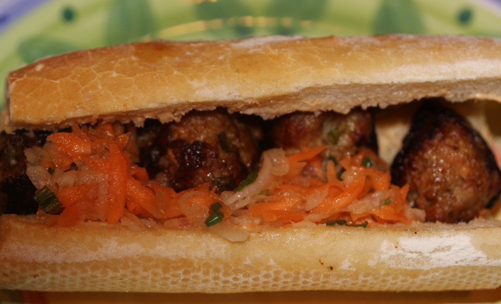 ... It was perfect! Get the recipe here Banh Mi Pork Meatball Sandwich