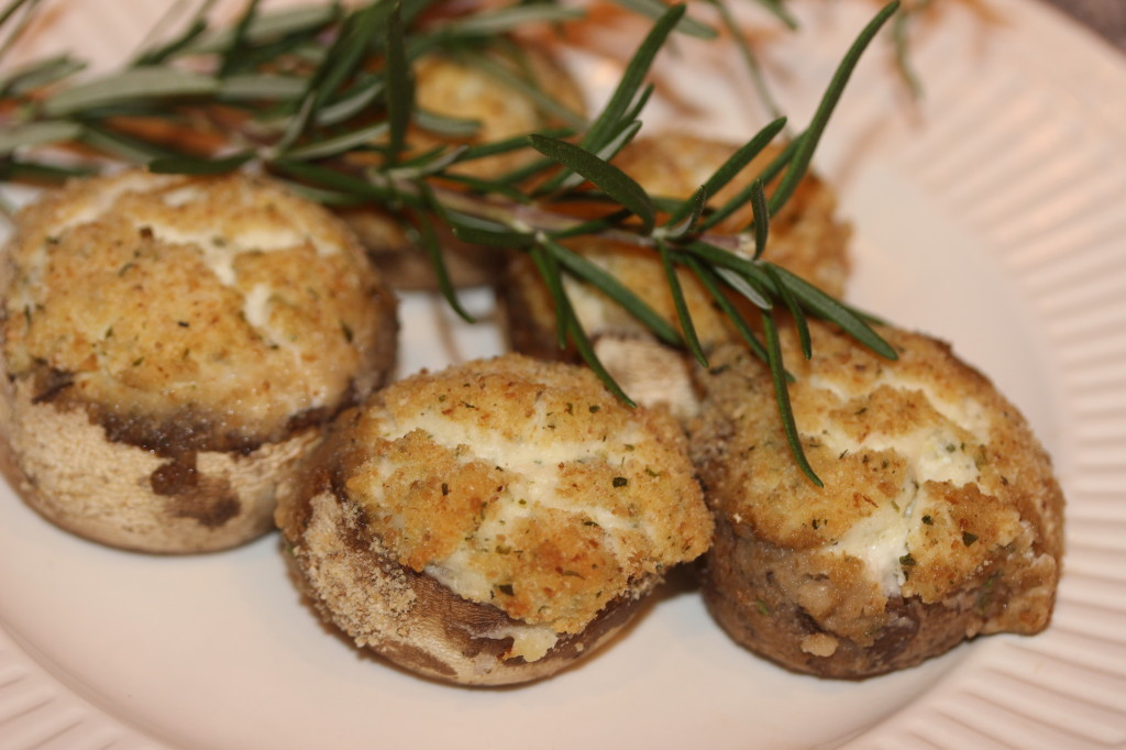 Boisin stuffed mushrooms